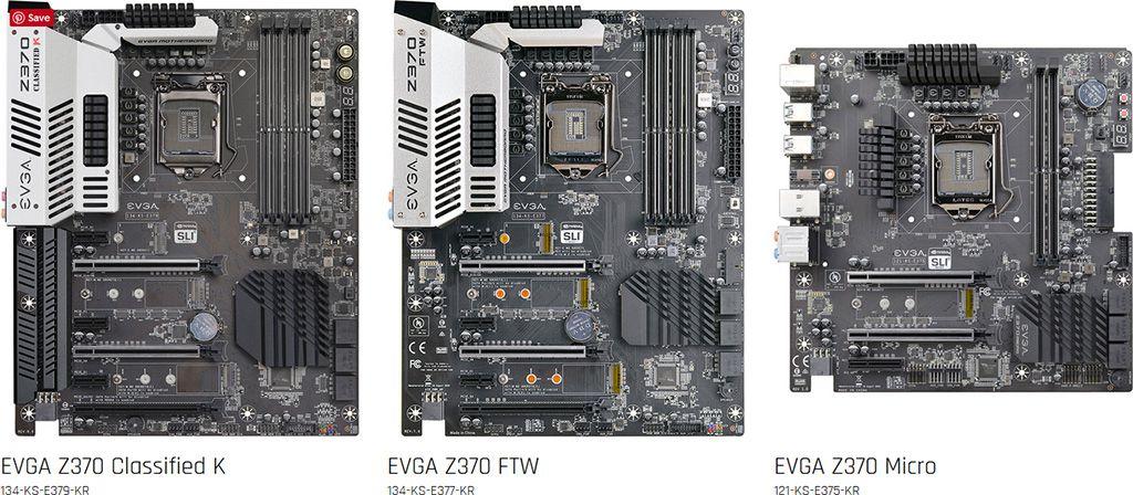EVGA Z370 Motherboards