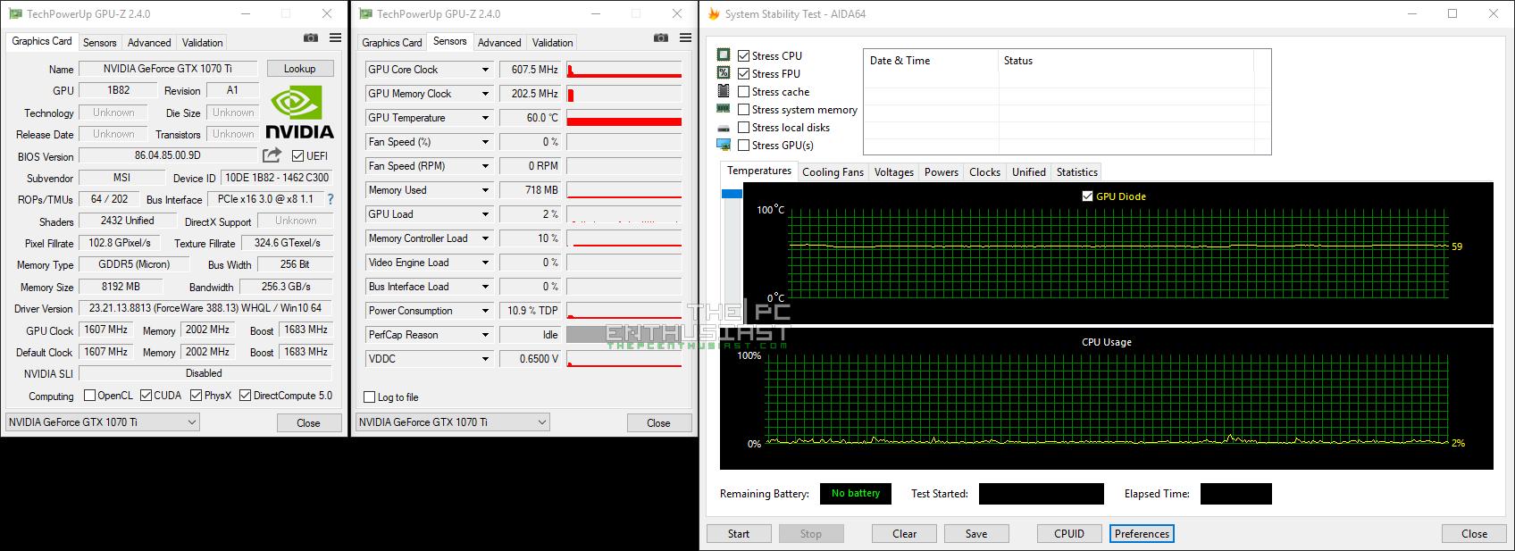 MSI GeForce GTX 1070 Ti Titanium 8G Graphics Card Review