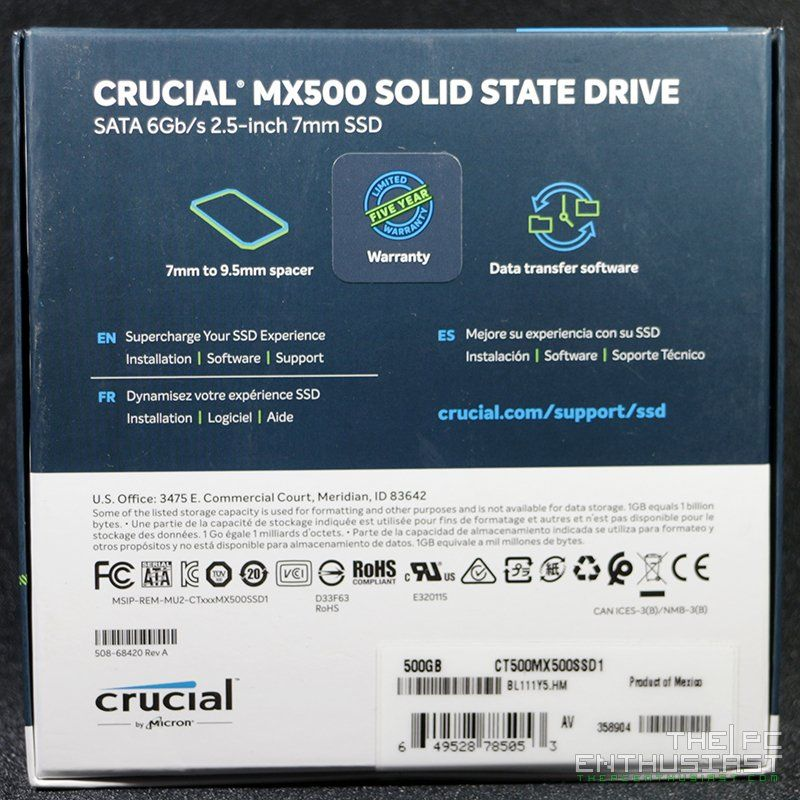 Crucial MX500 1TB and 500GB SSD Review - A Must Have SSD