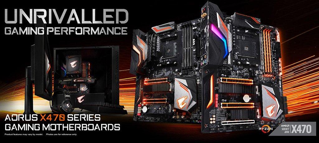 Gigabyte Aorus X470 Gaming Motherboard Series Announced