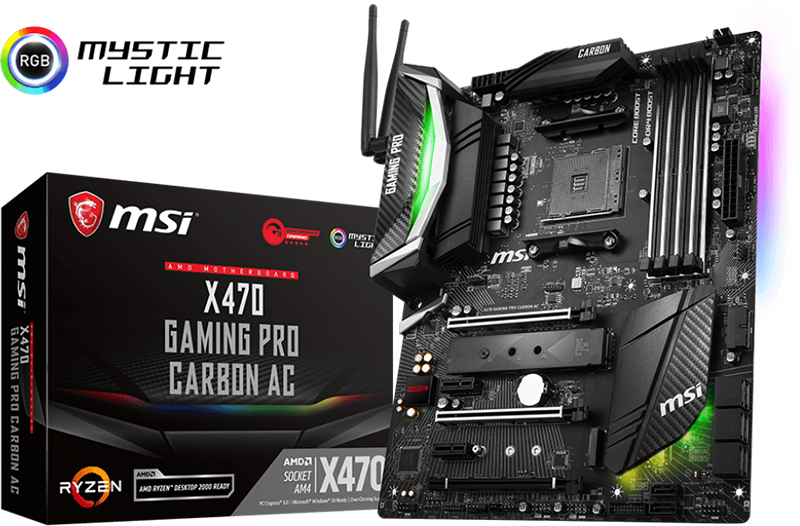 MSI X470 Motherboard Lineup Unleashed - See Features, Specs