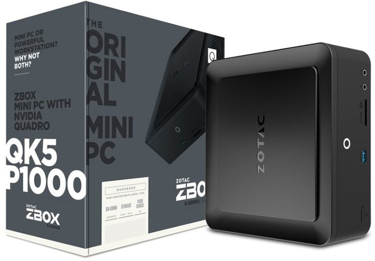 Zotac ZBOX QK5P1000, QK7P5000 and QK7P3000 – Smallest Workstation Mini PC with NVIDIA Quadro GPU