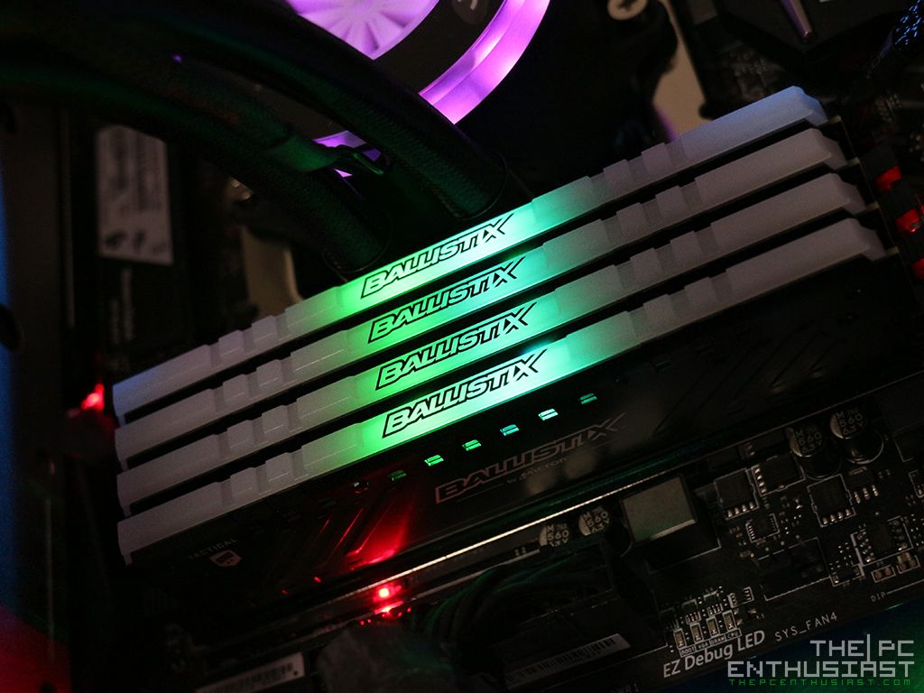 Ballistix Tactical Tracer RGB DDR4-2666 Review - Finally An