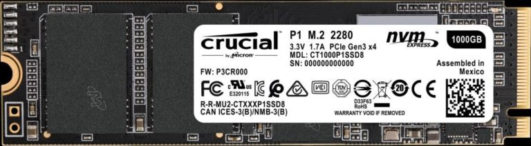 Crucial P1 M.2 NVMe SSD with QLC NAND Flash Released – See Features, Specs and Price