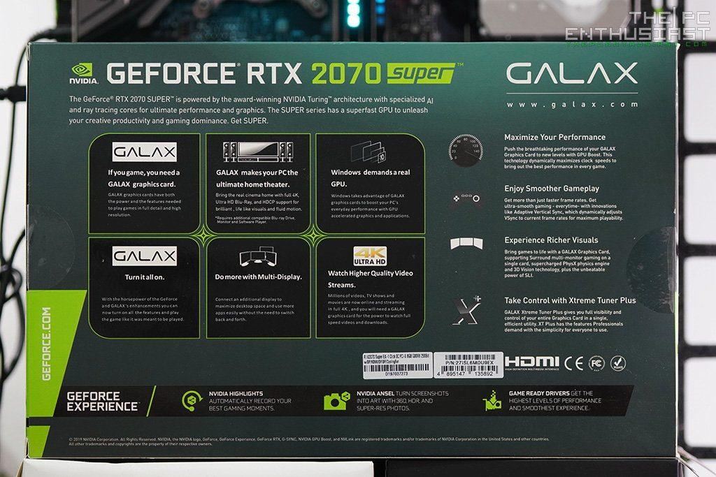 galax rtx 2070 super ex box back