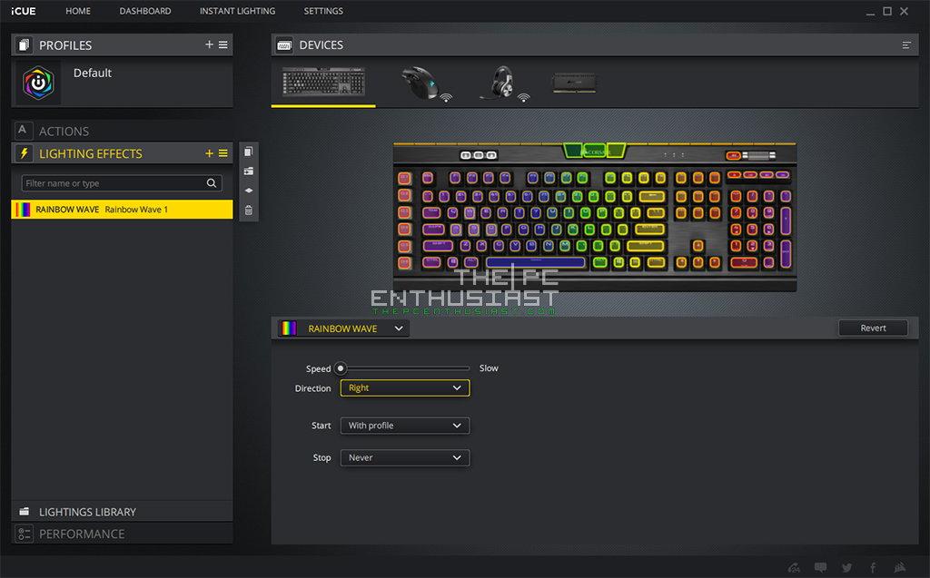 Corsair iCUE with K95 RGB Platinum XT