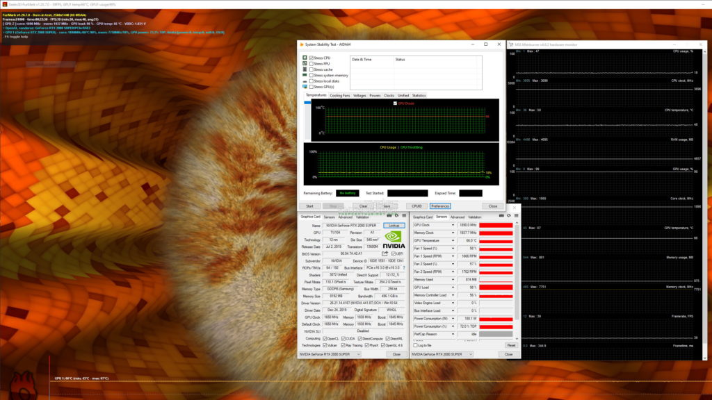 galax rtx 2080 super wtf full load temperature